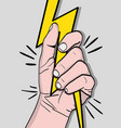 strong power hand protest revolution vector image