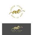 a e initials monogram logo design dry brush vector image vector image