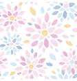 Abstract textile colorful flowers seamless pattern vector image