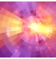 Abstract yellow and pink light circle technology vector image