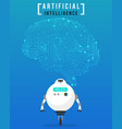 artificial intelligence ai with high technology vector image vector image