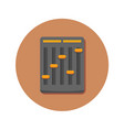 audio mini mixer icon graphic vector image vector image