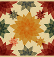 autumn abstract flowers vector image vector image