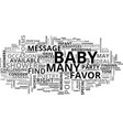 baby shower favor poem text word cloud concept vector image vector image