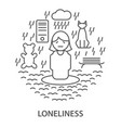 banners for loneliness vector image vector image
