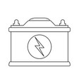 battery with lightning bolt icon image vector image vector image