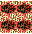 Beautiful seamless pattern with red roses arabic vector image vector image
