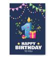 birthday anniversary number candle cheerful