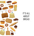 cartoon bakery food set background vector image