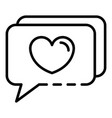 chat like blog icon outline style vector image vector image