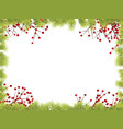 christmas frame background with fir tree branches vector image vector image