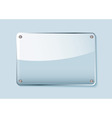 clear glass sign vector image vector image