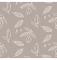 Cocoa beans outline seamless pattern Chocolate vector image vector image