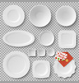 collection of plates letter vector image