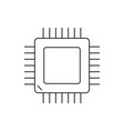 computer processor linear icon on white background vector image vector image