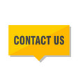 contact us price tag vector image vector image