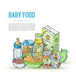 doodle bafood newborn and vector image vector image