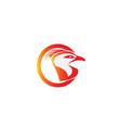 eagle head in a circle for logo design vector image vector image