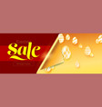 easter sale banner pattern with hanging painted vector image