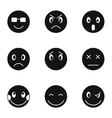 Emoticons icons set simple style vector image
