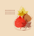 fall dry leaves foliage composition abstract vector image vector image