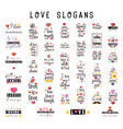 fashion slogans - i love with flat design vector image vector image