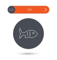 Fish icon Seafood sign Vegetarian food symbol vector image
