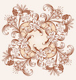 floral hand drawn vintage border vector image