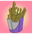 French fries Pop art vector image