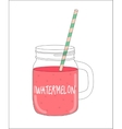 Fresh Watermelon Smoothie Healthy Food vector image