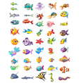 Group of different fishes vector image vector image