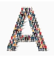 group people shape letter C vector image