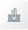 high school icon line symbol premium quality vector image vector image
