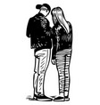 image a couple young townspeople vector image vector image