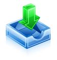 inbox icon vector image vector image