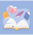 international literacy day school textbooks vector image vector image