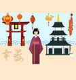 japan travel postcard poster tour advertising vector image