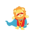 Lion Animal Dressed As Superhero With A Cape Comic vector image vector image