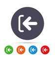 login sign icon sign in symbol arrow vector image