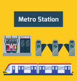 metro station transportation modern railroad trip vector image