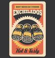 mexican enchilados retro poster vector image vector image