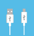 micro usb cables usb connection vector image