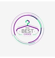 Minimal line design shopping stamps best choice vector image vector image