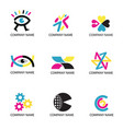 print cmyk colors icons vector image vector image