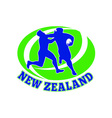 Rugby player tackle fending new zealand vector image vector image