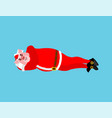 santa pig sleeps isolated rest before work vector image vector image
