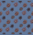 seamless background of flowers vector image vector image
