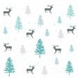 seamless natural ornament on the christmas theme vector image vector image