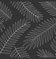 seamless pattern with tropical palm leaves black vector image