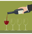 Serving wine vector image vector image
